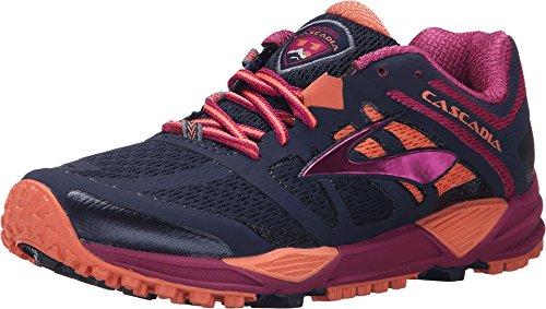 Brooks Cascadia 11-120204 1B, Zapatillas de Trail Running para Mujer, Azul (Peacoat/Batonrouge/Fusioncoral 451), 37 EU
