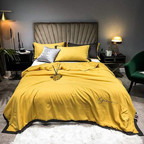 XNSY Duvet Washable summer quilt double quilt-turmeric_200 * 230cm