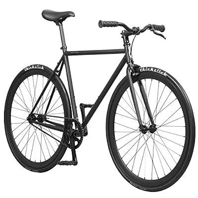 Pure Fix Original Fixed Gear Single Speed Bicycle, Juliet Matte Black, 54cm/Medium