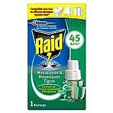 Raid recambio para difusor eléctrico líquido, mosquitos y mosquitos tigres, aceites esenciales de eucalipto, 45noches, insecticida
