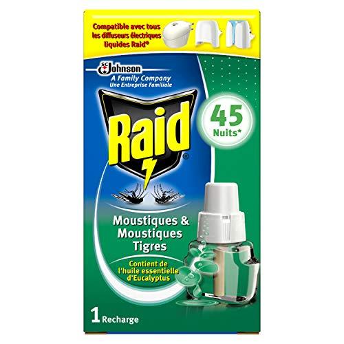 Raid recambio para difusor eléctrico líquido, mosquitos y mosquitos tigres, aceites...