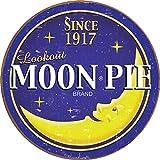 Desperate Enterprises Moon Pie Round Logo Tin Sign, 11.75' Diameter