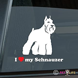Mister Petlife I Love My Schnauzer Sticker Vinyl Auto Window v2