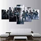 mmbj 5 Stück Spiele Kunstdruck Rainbow Six Siege Poster