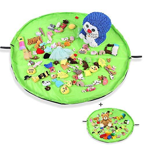 Kinder Spielzeug Aufräumsack, KIPIDA Baby Spielmatte Spielzeug Beutel Spielsack Oxford-Stoff Teppich Faltbare Große Krabbelmatte Aktivitätsspielmatte, Outdoor Picknick Teppich Wasserdicht 150cm+50cm