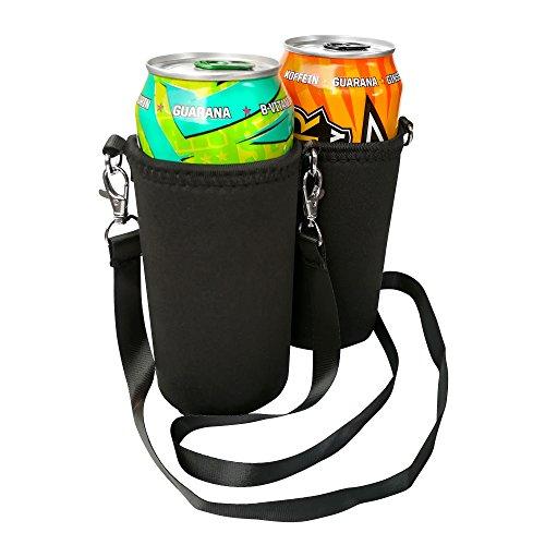 BeerHolder Eff Em Concept 2er Set Dosenhalter für Den Hals, Dosenhalterung inkl. Halstrageband, Glashalter, Flaschenhalter (Lanyard) (2 Stück 0,5l)