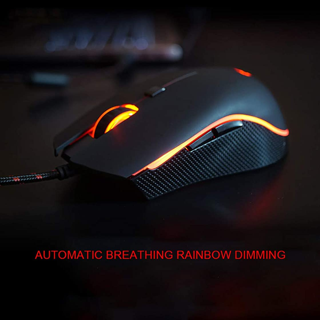 Clothful ?? Clearance on Sales ?? MOTOSPEED V40 4000 DPI RGB Backlit 6 Buttons Breathe Wired Gaming Mouse