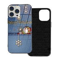 クリスマス雪だるまハッピーホリデー Iphone12 ケース Iphone 12 Pro ケース 硝子製 高級感 携帯カバー 滑り防止 軽量 薄型 耐衝撃 カバー 衝撃吸収 指紋防止 薄型 ケース