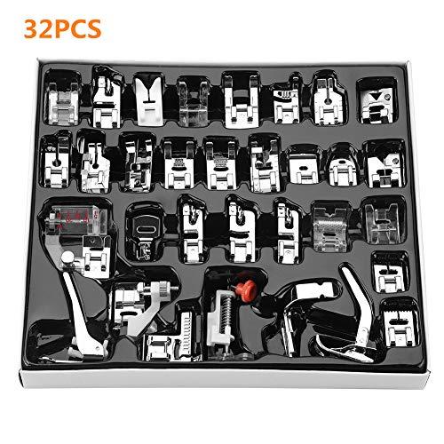 Accessoires voor naaimachine, 32 delen, druk op de accessoires en het geval van de voetdruk.
