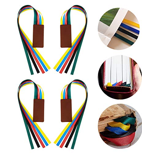 4 Pieces Bible Ribbon Bookmark Bible Ribbon Page Markers for Books Bible Study