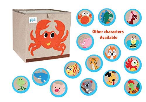 Mutti| Aufbewahrungsbox Kinder Babyzimmer Deko - NEU 2020 Modell mit Baumwolle Zertifizierter Stoff | Baby Box Korb Kinderzimmer Babyspielzeug Kleidung Schuhe Spielbox Tierbilder Aufbewahrungskiste | Dekoration > Aufbewahrung und Ordnung > Korbwaren | Mutti