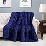Intimate Sleep Companion - The HBlife faux fur weighted blanket features long shaggy fur and deluxe sherpa, Which is designed to offer natural deep and restful sleep for kids and adults with the feeling of being hugged, comfort & warmth maximized. In...
