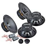 Ground Zero Front/Heck 16,5cm/165mm Auto Lautsprecher/Boxen/Speaker Komplett-Set kompatibel für Audi