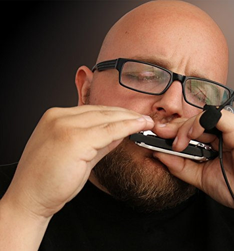 The Feather Soul Harmonica Hands Free Microphone with Flexible Micro-Gooseneck by Myers Pickups