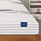 Full Mattress, Inofia 6 Inch Full Memory Foam Mattress in A Box with Cool Sleeping Gel, Soft Cover, Medium Firm, Good for Backache Relieve, Made in USA