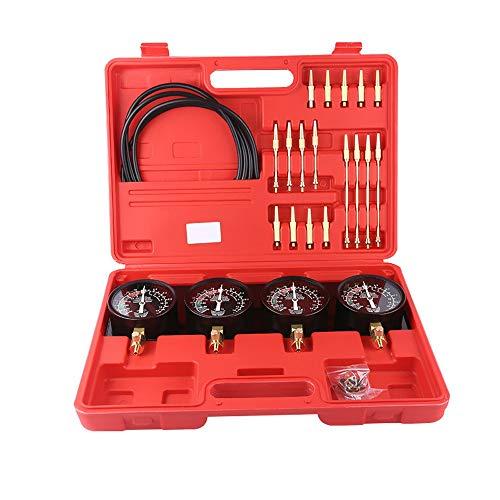 Neue Kraftstoff-Vakuum-Vergaser-Synchronisierungsset 4-Messgeräte-Werkzeug-Kit für Motorrad-Auto Universal-Kraftstoff-Vakuum-Vergaser 4-Gauge