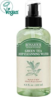 [BONAJOUR] Green Tea Deep Cleansing Water and Makeup Removing Solution, Natural Makeup Remover Cleansing Tonic 8.8 Fl. Oz