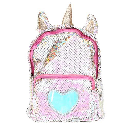 Zaino paillettes, paillettes zaino unicorno zaino carino trendy per bambini scuola scuola zaino ragazza zaino ragazza carina (2)