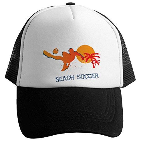 Blue Naja Casquette Beach Soccer Couleur Noire et Blanche De Marque Française
