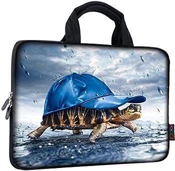 ICOLOR 11 11.6 12 12.1 12.5 inch Laptop Carrying Bag Chromebook Case Notebook Ultrabook Bag Tablet Cover Neoprene Laptop Sleeve case chromebook Sleeve with Handle Kids Boys Girls Blue Sea Turtle