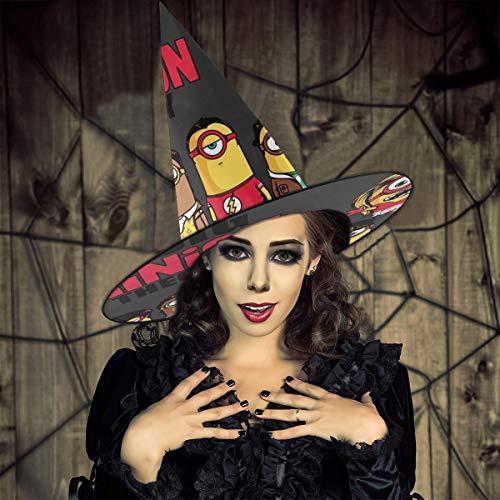 AISFGBJ The Big Bang Minion Theory Sombrero de Bruja Unisex Disfraz para Vacaciones, Halloween, Navidad, carnavales