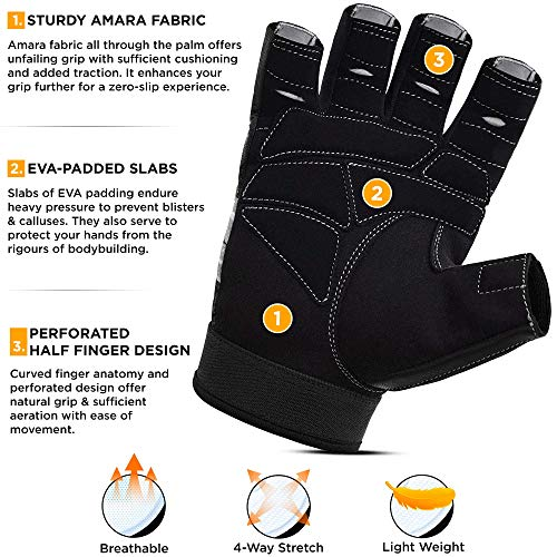 RDX Fitness Handschuhe Trainingshandschuhe - 2