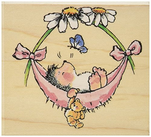 Penny Black Mounted Rubber Stamp 3 by 3.25-Inch, Baby Hammock