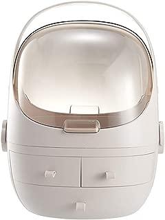 Dustproof Cosmetic Storage Box Dressing Table Storage Rack Desktop Plastic Skin Care Mask Rack (Size: 31.5 * 28 * 40.5cm) (Color : Pink, Size : 31.5 * 28 * 40.5cm)