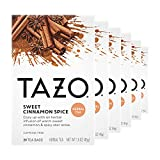 Tazo Herbal Tea Tea Bags for a Classic Warm Beverage Sweet Cinnamon Spice Flavored Tea Non Caffeinated Tea 20 Tea Bags, Pack of 6