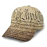 AUHILL Patriotic The Constitution United States of America Personalized Baseball hat Snapback Ball Cap for Women Men Running