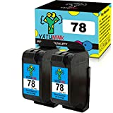 YATUNINK Remanufactured Ink Cartridge Replacement for HP 78 Ink Cartridges Compatible for HP Deskjet /Color Copier /Fax /Officejet /Photosmart /PSC Series Printer(Color,2 Pack)