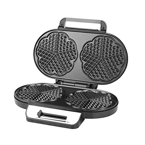 New Fishoo Double Waffle Maker Machine Dual Plates Non Stick for Home Kitchen Sandwich Breakfast