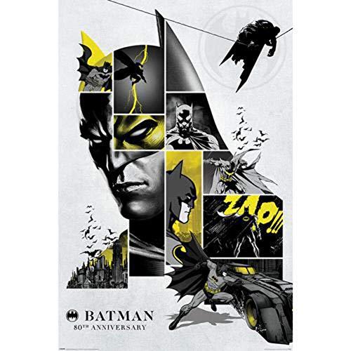 Batman 80's Anniversary Unisex Poster Multicolor Papier 61 x 91,5 cm DC Comics, Film