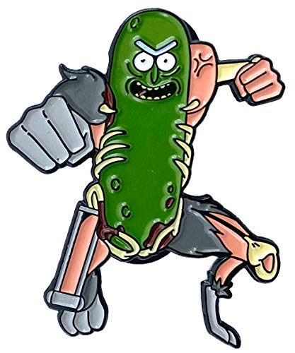 Leaping Pickle Rick! - 1.75' Collectible Pin
