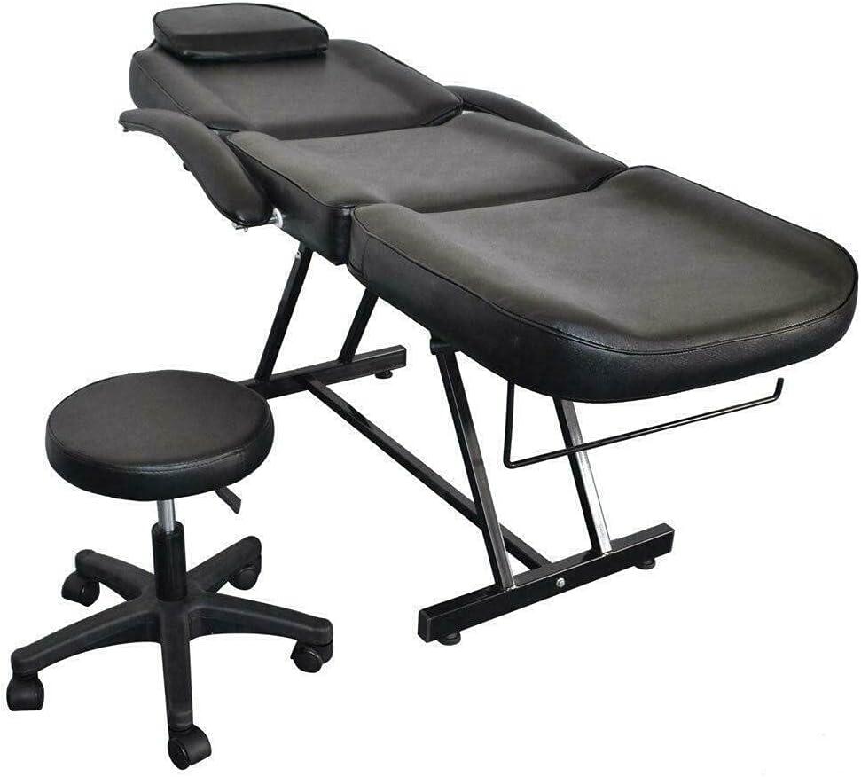 Kosoree Salon SPA Easy-to-use Black Massage Adjustab Bed Long-awaited Tattoo Chair Facial