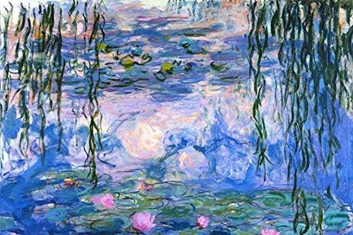 YHKTYV Pond Lotus Sauce Pintura al óleo 300 Piezas Puzzle Educational Game Regalo para niños y Adultos Alivie el estrés Juego Adulto