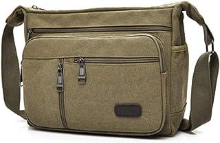 GELing Umhängetasche Leinwand Messenger Bag Laptop Tasche Computer Tasche 14 Zoll Umhängetasche aus Segeltuch Tasche Arbeiten Tasche Umhängetasche für Männer und Frauen
