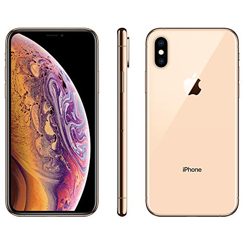 Apple iPhone XS, 64GB, Gold - Fully Unlocked (Renewed)