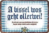 Blechschilder Lustige Bayern Sprüche bayerisch Deko