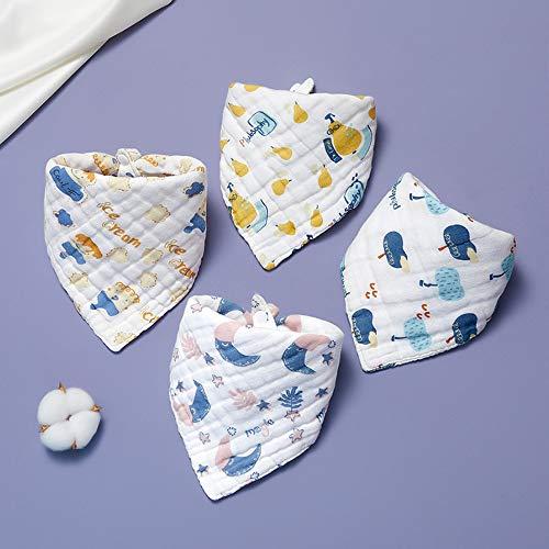 SSJY Baberos Bebe,Baberos Bebe Recien Nacido Bufanda Triangular Babero Impermeable Diseño de Doble botón Tejido de Doble Capa Adecuado para niños/niñas Desde recién Nacidos hasta 6 años.