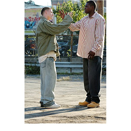 Step Up (2006) 8 Inch x10 Inch Photo Channing Tatum Performing Cool Handshake w/Friend kn