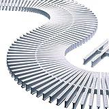 rejilla transversal para curvas alto 22mm ancho 195mm...