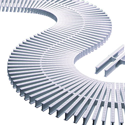 Módulo rejilla transversal para curvas reversible alto 35mm ancho 295mm (45 unidades = 1 metro lineal) AstralPool