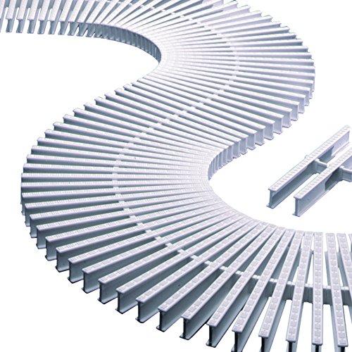 Módulo rejilla transversal para curvas reversible alto 35mm ancho 335mm (45 unidades = 1 metro lineal) AstralPool