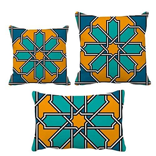 DIYthinker - Juego de fundas de cojín con diseño de flores, estilo marroquí, decoración de sofá