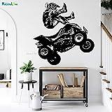 Tianpengyuanshuai Quad Bike Dirt Bike Dirt Bike Saltando Ladera Deportes decoración Motocicleta habitación de Hombres 80x78cm