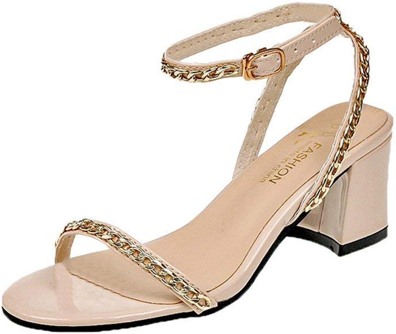 JaHGDU Fashion Women Sandals Summer Boom shoes Wedges Weave Middle Heel Sandals Lace Up High Heel Comfortable shoes