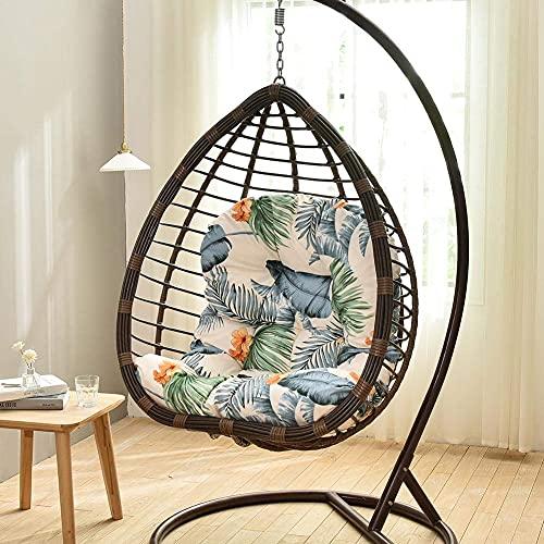 Cojines para sillas de mimbre para colgar en forma de huevo, cojín para columpio de 120 x 86 x 12 cm, algodón esponjoso, para colgar en mimbre, para colgar en huevos, para sillas, cojín para patio,