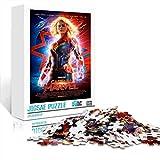 DUANGONGZI Jigsaw Puzzle Game Affiche du Film: Captain Marvel Color Puzzle 500 pièces 20.5x14.5inches Adultes Jeu de Puzzle Stimulant, pièces de Puzzle Cadeau