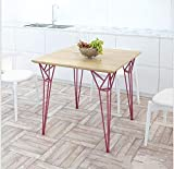 Furniture Decoration Nordic Solid Wood Coffee Table Iron Art Sofa Side Table Corner Table Living Room Office Industrial Wind Leisure Table